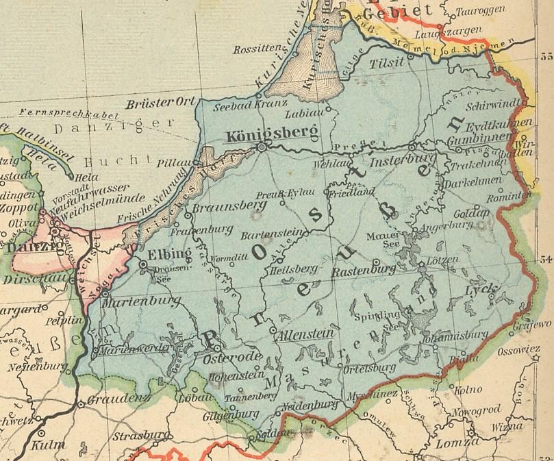 karte ostpreußen HIS Data Ostpreußen Karte 1926 karte ostpreußen