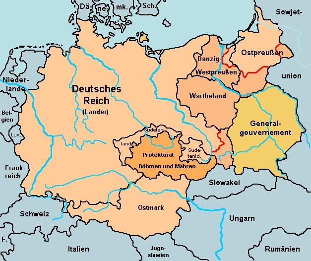 Deutsches Reich Karte.His Data Deutsches Reich Karte 1939
