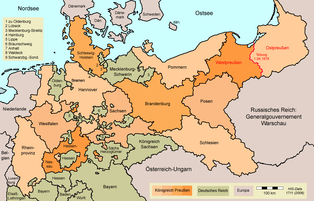 Preußen Karte